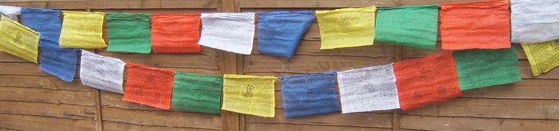 Nepalese Buddhist Prayer Flags - Large Size