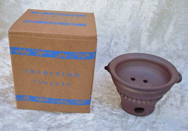 Terracotta Tanjore Incense Burner - Free Charcoal