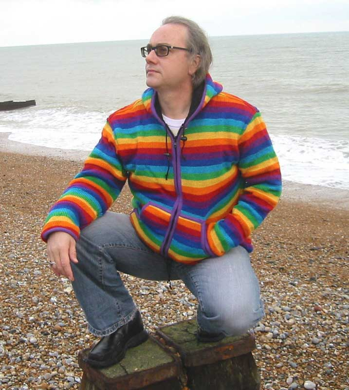 Wool Rainbow Striped Fleece Lined Jacket