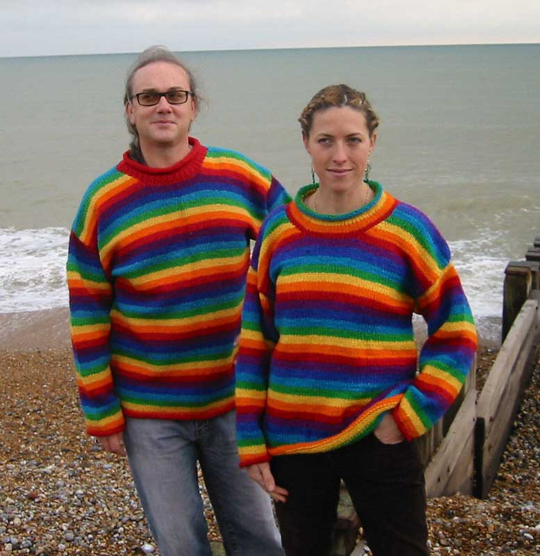 Wool Rainbow Stripe Jumper