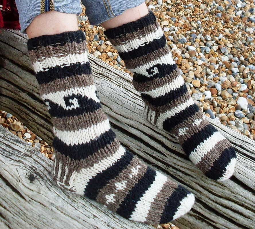 Socks - Wool Black & White