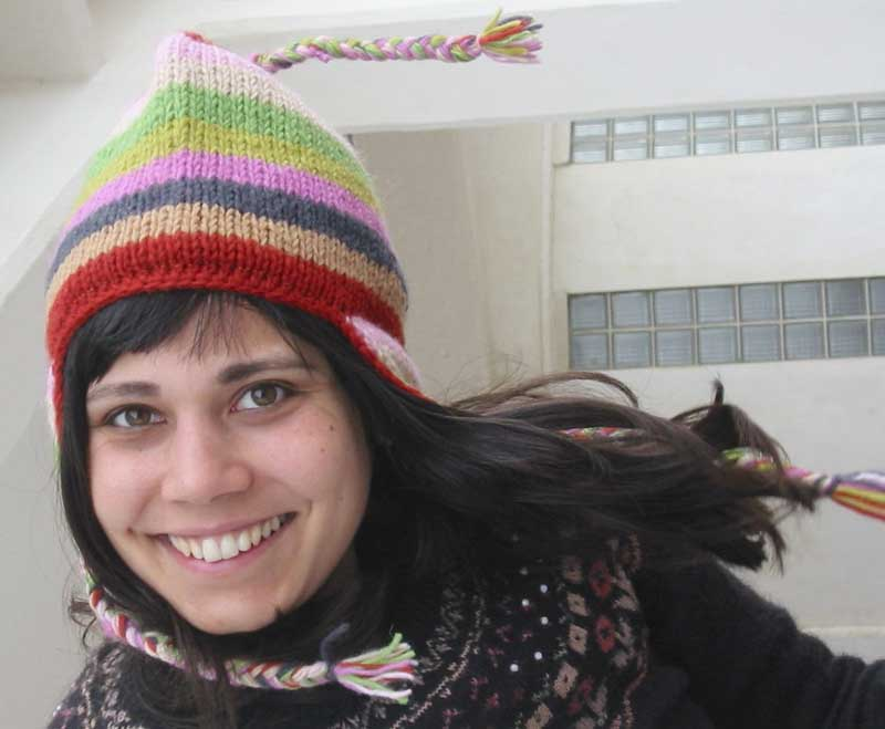 Wool Stripey Earflap Hat